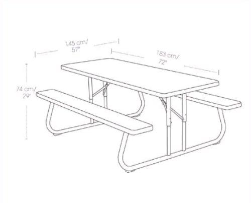 Lifetime Commercial Grade Picnic Table Faux Wood Color - Picnic table seats 8