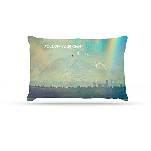Kess InHouse Robin Dickinson Follow Your Own Arrow  Fleece Dog Bed, 50 by 60 , City Landscape