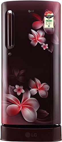 LG 190 L 4 Star Direct-Cool Single-Door Refrigerator (GL-D201ASPX, Scarlet Plumeria, Inverter...