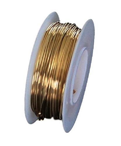 (Red Brass Round Wire (Dead Soft) 1/4 LB. Choose Gauge (22Ga Spool -125Ft.))