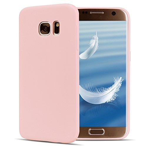 Funda Galaxy S6 , SpiritSun Soft TPU Silicona Handy Candy Carcasa Funda para Samsung Galaxy S6 (5.1 Pulgadas) Suave Silicona Piel Carcasa Ultra Delgado y Ligero Goma Flexible Phone Case Cover - Rojo Rosado