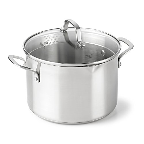 - Calphalon Classic Stainless Steel Cookware, Stock Pot, 6-quart
