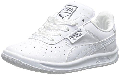 PUMA G Vilas L2 JR Sneaker (Little Kid/Big Kid), White/Steel Gray, 6.5 M US Big Kid