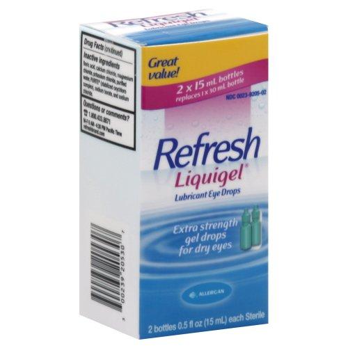 Gouttes rafraîchir Liquigel oculaires lubrifiantes 1 Fluid Ounce (2x15 ml)