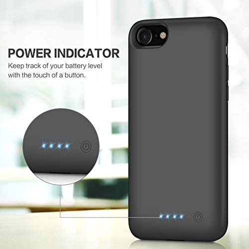 lowest price 251e5 17bc5 Battery case for iPhone 8/7, Xooparc [6000mah] Upgraded Charging Case  Protective Portable Charger Case Rechargeable Extended Battery Pack for  Apple ...