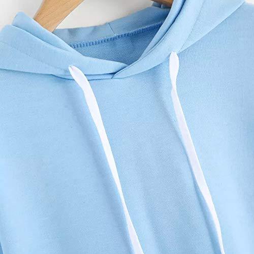 Felpe Lunga Manica Donna Blu Corte Camicetta Felpa Cappuccio Pullover Donna Donna Autunno Tumblr Styledresser Con Pullover wqE7P6