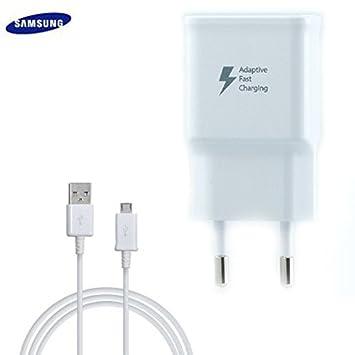 Samsung TA20 Cargador Galaxy S5 G900 Carga rápida AFC 2 A con Cable Micro USB 1,5 M Blanco