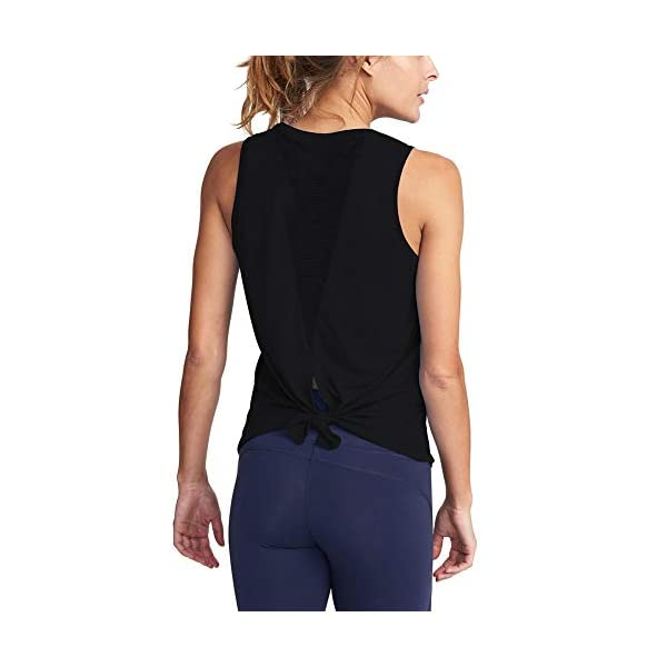 Mippo Women's Cute Mesh Yoga Workout Tank Tops Activewear Sexy Open Back Sports...