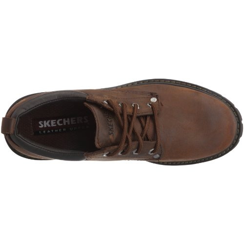 Skechers Tom Brown Homme Oxfords Marron Dark Cats S1drqxS