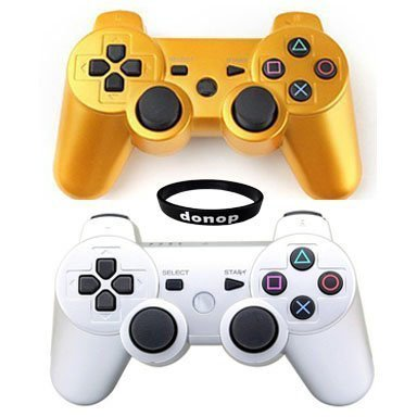 Wireless Bluetooth Controllers, Donop® Gaming pad joysticks include Donop Black silicone wristband for Sony PlayStation 3 Double Shock PS3 - Gold & - Microsoft Store Uk Phone Number