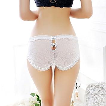 GFEI Ropa interior de seda cintura cadera hueco transparente lenceria bonita,One size