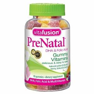 Vitafusion prénatal, Gummy vitamines, Berry, de citron et de cerise 90 ch