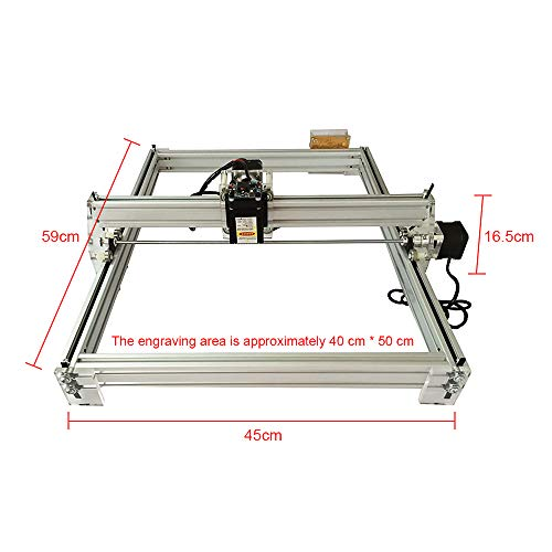 Pettyios CNC Laser Engraver Kits, 12V USB Desktop 40X50CM Mini Multiple Function Engraving Machine Driven By 2 Motors For Carving Wood Plastic Paper Bamboo by Pettyios (Image #1)