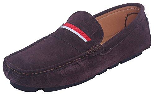 Mini AgeeMi Oscuro para Suede Sintético Shoes Hombre Hombre Tacón Sólido Marrón Zapatos r8nfPrIwSx