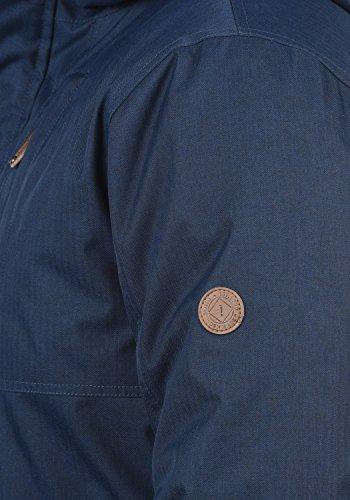 Blue Giacca Cappuccio Con solid 1991 Di Mezza Uomo Stagione Da Insignia Piumini Giubotto Bellippo 47w76xqH