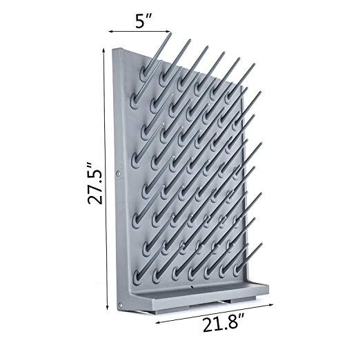 52 Pegs Lab Supply Drying Rack, Pegboard Bench-top/Wall-Mount Laboratory Glassware 52 Detachable PegsLab Drying Draining Rack Cleaning Equipment