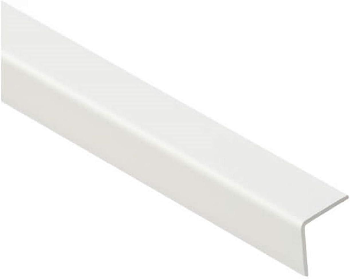 En PVC Coin /à 90/° 1 m Protection pour angles et coins de murs Diff/érentes taille Plastique Blanc en PVC dangle /à 90//° 1/m Blanche Profiles TMW Par Cezar