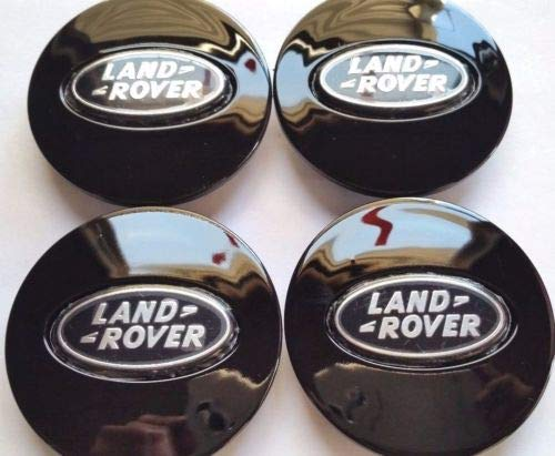 Land Rover, 4 X, Center Cap, HubCap, Black Oval, Chrome Logo, 63MM, 6