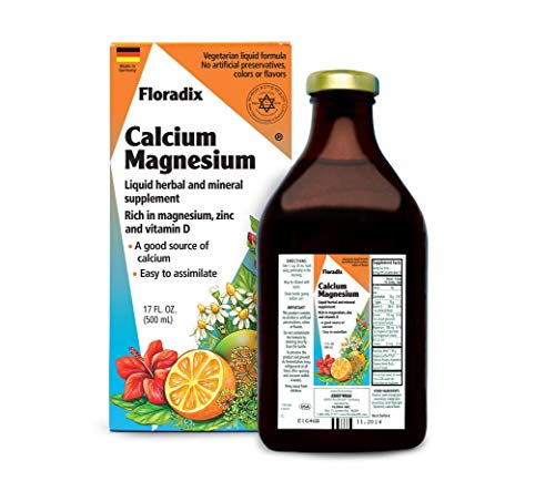 Salus Haus Floradix Liquid Calcium & Magnesium 17 Oz - Natural Vitamins Formula - Support for strong bones - Non GMO, Gluten Free, Vegetarian.