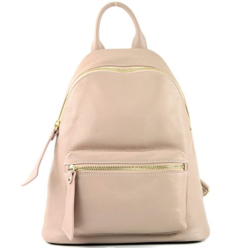 Präzise T171A modamoda Farbe sac de en cuir Ital Farbe nur Rosabeige Damenrucksack 6H0OT