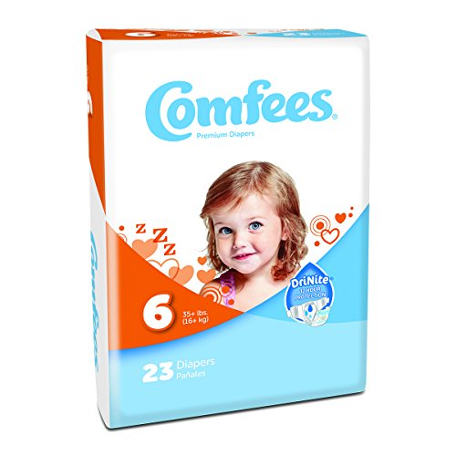 Attends Comfees Premium Baby Diapers Size 6, Case of 92