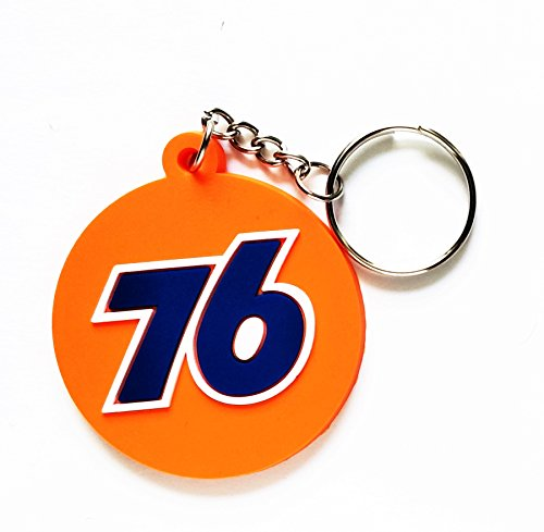 76 Union Round Motocross Racing Logo Logo Rubber Key Ring Key Chain Car Motorbike Scooter Motorcycle Racing Logo for Birthday Gift