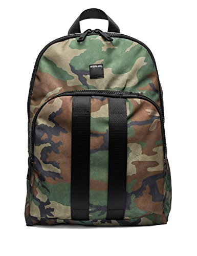 Replay Men's Men's Camouflage Backpack Green by Replay