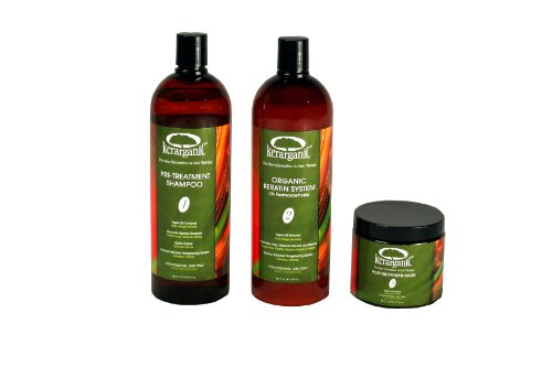 Kerarganic - Formaldehyde Free - Organic Keratin Treatment Set 32oz by KERARGANIC