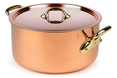 Mauviel M'heritage 250B 8.5-quart 2.5mm Copper Stock Pot wit