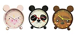 Girls Alarm Clock - SILENT - Mental Frame - Animal Alarm Clock For Kids - Battery Operated - QUIET - Pig Pink