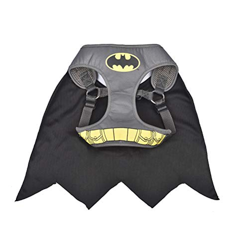Batman Robin Dog Halloween Costumes (DC Comics Batman Harness for Dogs, Small | Superhero Dog Harness | Harness for Small Dog Breeds,)
