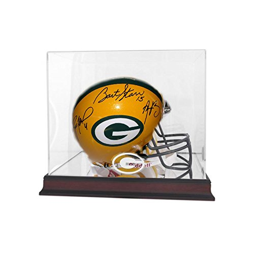 Green Bay Packers Autographed Starr Favre Rodgers Full Size NFL Helmet by Vintage Favs