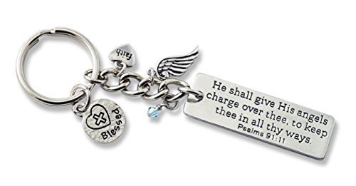 Cathedral Art KR317 Angels Key Ring Bling, 4-1/2-Inch