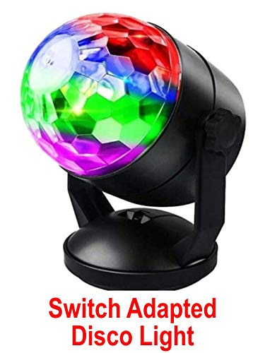 Switch Adapted Toy Disco Ball Light | Adaptive Toys | Special Needs Switch Toys | Switch Toys Black -