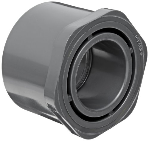 Spears 837 Series PVC Pipe Fitting, Bushing, Schedule 80, 2