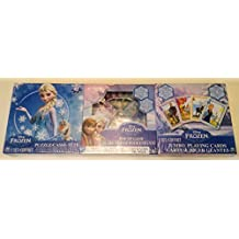 Three-Pack Frozen Games & Puzzle - Jumbo Playing Card - Popper Jr. Game - 24-Piece Frozen Puzzle