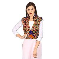 Vastraa Fusion Women's Cotton Ethnic Jacket