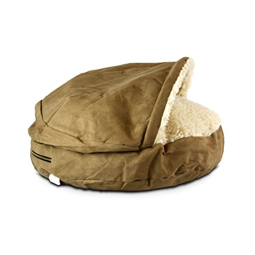 Snoozer Luxury Orthopedic Cozy Cave Pet Bed, Large, Camel