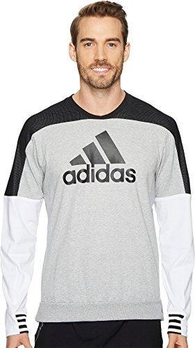 adidas Men's Sport ID Badge Of Sport Crew Sweater Medium Grey Heather Medium