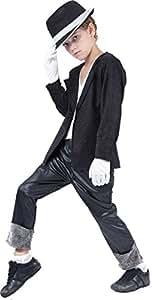 Disfraz infantil de Michael Jackson, talla M (5-7 años)
