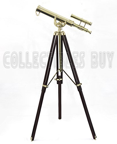 Vintage Marine Brass Double Barrel Maritime Collectible Telescope Nautical With Tripod Telescopes Royal Item from Collectibles Buy