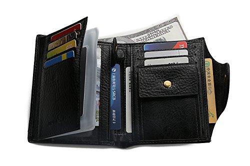 ef9b959874d5 LETMEBUY Wallet for Mens Leather RFID Bifold Front Pocket Money Clips Card  Cases