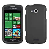 Samsung ATIV Odyssey Case, CoverON® [Snap Fit Series] Hard Rubberized Slim Protective Phone Cover Case for Samsung ATIV Odyssey - Black