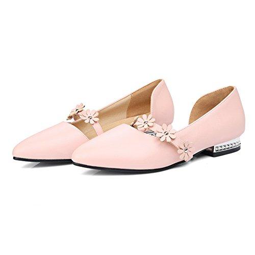 BalaMasa Womens Sandals Closed-Toe Hounds-Tooth Soft-Ground Urethane Sandals ASL04440 Pink IsewsBGxbK
