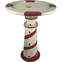 26H Red & White Lighthouse and Lifering Shaped End Table