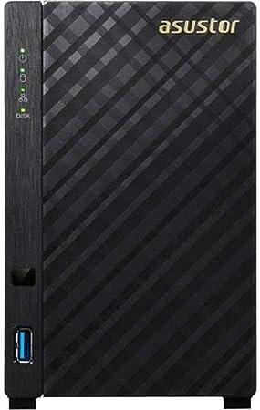 ASUS AS1002T v2 Ethernet Negro NAS - Unidad Raid (Unidad de Disco Duro, Serial ATA II, 3.5