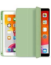 Capa Novo iPad 7a e 8a Geração 10.2″ WB Premium Slim Antichoque com Compart. para Pencil Verde Menta