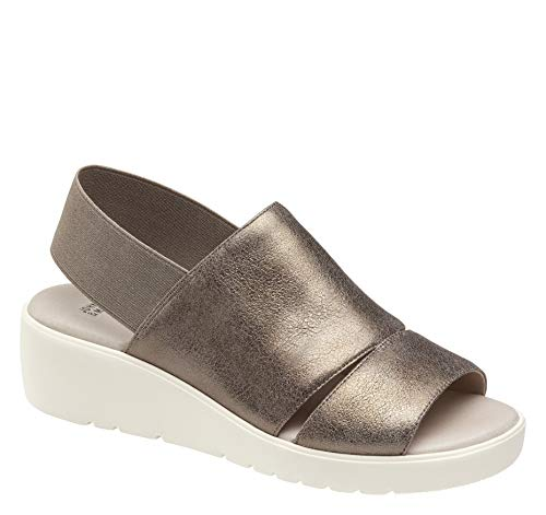 - Johnston & Murphy Women's Cassandra Pewter Metallic Italian Suede 9 M US