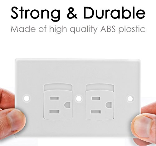Baby Dröm Self Closing Electrical Outlet Covers, Child Proof Safety Universal Wall Socket Plugs, Automatic Sliding Cap Cover Standard Wall Outlet Plate (8 Pack) by Baby Dröm (Image #4)