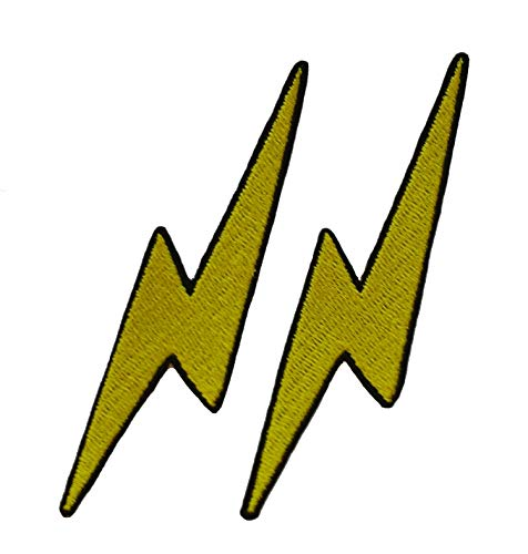 Lightning Bolt Sew/Iron On Patch 4